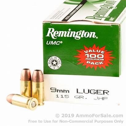 9mm Ammo Remington Jhp Rounds 115gr