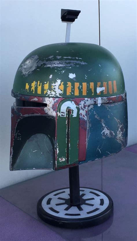 empire strikes  boba fett helmet side view fan
