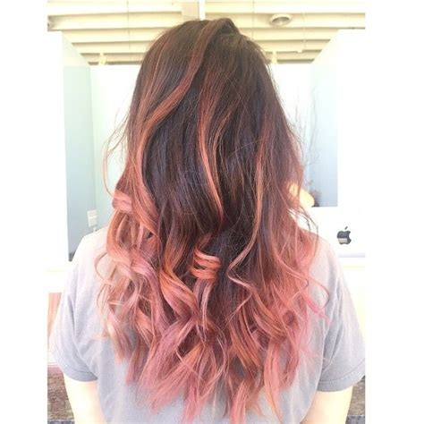 Pink And Brown Ombre Achieved By Aveda Color Love This