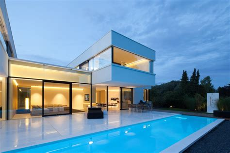 Harmonious House With Swimming Pool Design by The Hi Macs House By Karl Dreer And Bemb 233 Dellinger
