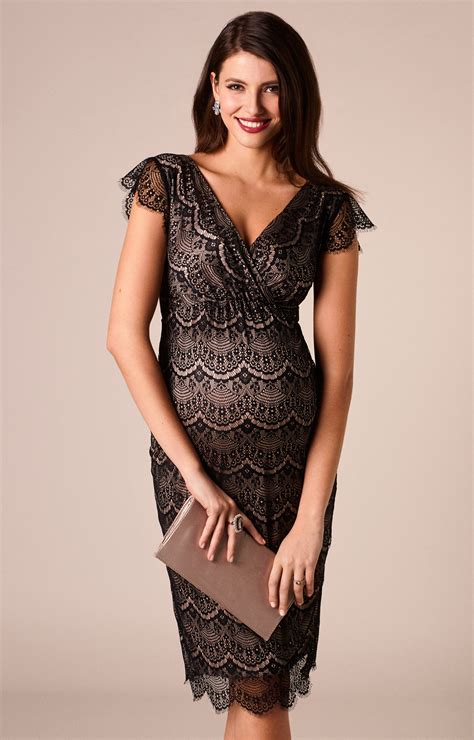Imogen Maternity Shift Dress Black - Maternity Wedding Dresses Evening Wear and Party Clothes ...