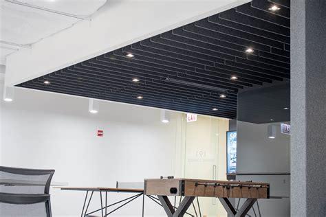 straight acoustic ceiling baffle  turf