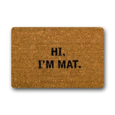 hi i m mat doormat ninnayuan hi i m mat lovely outdoor indoor doormat 23