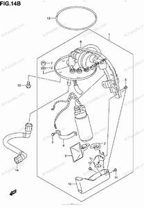 Suzuki Motorcycle 2003 Oem Parts Diagram For Fuel Pump  Model K5