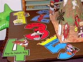 on bible explorer journal the ten 10 | ceced1c5b6563ceb25c78b202faa5968 commandments craft childrens bible