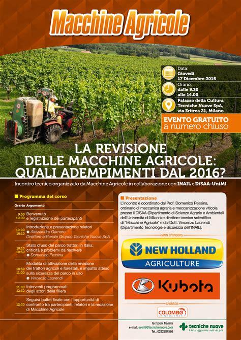 cr it agricole si e la revisione delle macchine agricole quali adempimenti