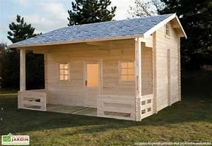 Chalet En Bois Habitable Livré Monté : bungalow chalet bois meg ve 600x590x378 44 mm bungalow ~ Dailycaller-alerts.com Idées de Décoration