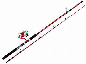 Surecatch Red Eye Fishing Rod And Reel Spin Combo Spooled