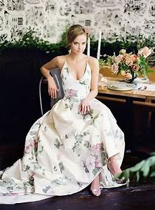 gorgeous floral wedding dresses that inspire happyweddcom With floral dresses for weddings