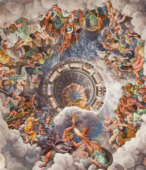 chamber   giants ceiling mount olympus painting