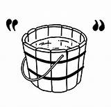 Coloring Bucket Tattoo Well Wooden Tocolor sketch template