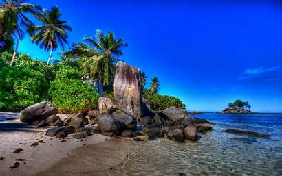 Tropical Background Wallpapers Serene Beach Paints Backgrounds