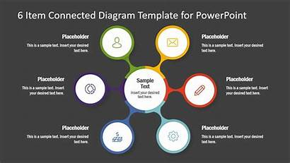 Diagram Items Ppt Template Powerpoint Connected Slide