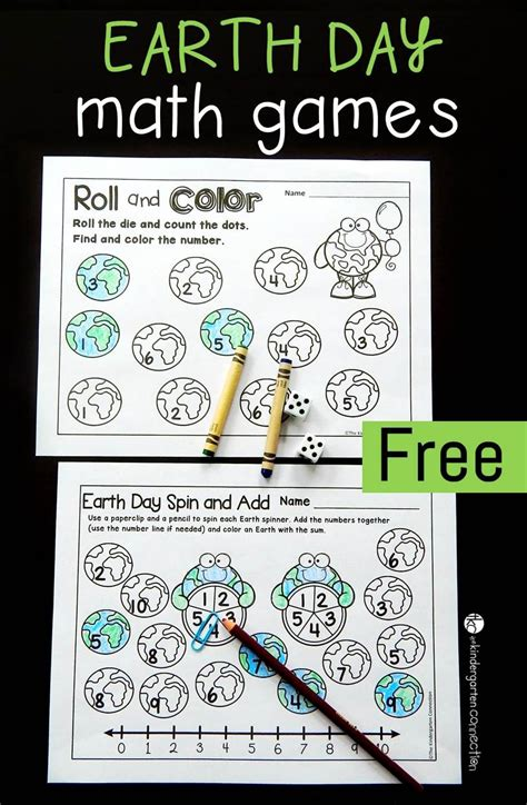 free printable earth day math the kindergarten