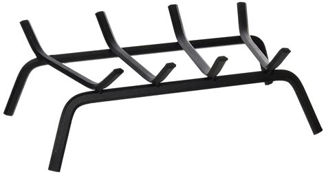 18 Black Wrought Iron Fireplace Grate Ebay