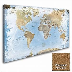Pinnwand Weltkarte Kork : lana kk edel leinwandbild kunstdruck gerahmt pinnwand weltkarte ice kork blau ebay ~ Markanthonyermac.com Haus und Dekorationen