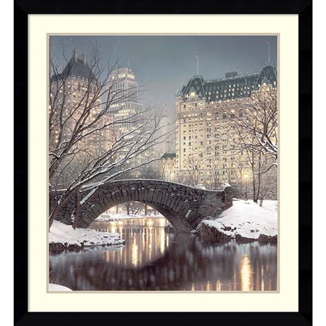 framed art print twilight  central park  rod chase