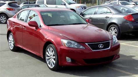 red lexus is 250 2006 2007 lexus is250 awd red fish creek nissan youtube