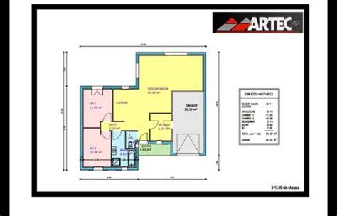 plan maison plain pied 2 chambres gratuit plan maison plein pied 80m2
