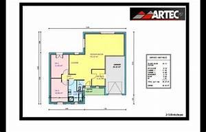 plan maison plein pied 80m2 With plan maison 80m2 2 chambres
