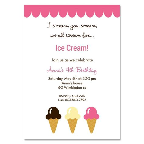 ice cream social invitation template sampletemplatess
