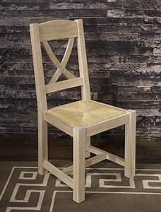 Chaise Chene Massif : chaise olivier en ch ne massif de style campagnard finition ch ne bross blanchi meuble en ~ Teatrodelosmanantiales.com Idées de Décoration