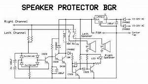 make a complete power amplifier for home electronic circuit With speaker protector