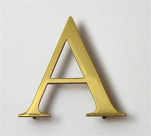 brass letters polished face or brushed face With brass letters for signs