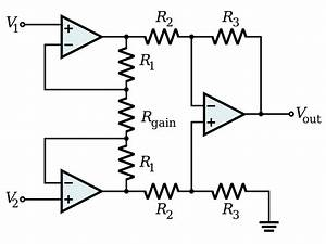 instrumentation amplifier wikipedia With single opamp difference amplifier circuit diagram tradeoficcom