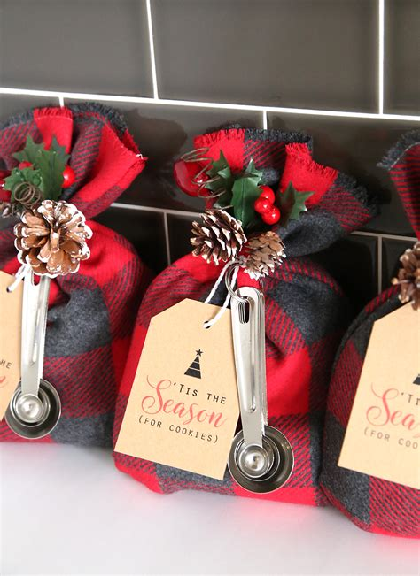 cookie mix gift sack easy diy christmas gift idea