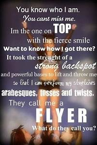 They call me a flyer | Cheer quotes | Pinterest | Flyers