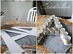 Basteln Mit Papierrollen : creativelive diy deko buchstabe diy diy deko buchstaben basteln mit papierrollen und ~ Buech-reservation.com Haus und Dekorationen