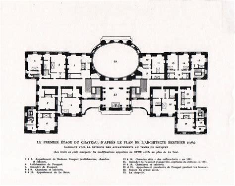 chateau floor plans chateau de vaux le vicomte floor plan