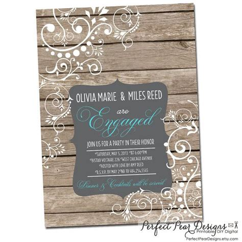 couples engagement party wedding shower invitation
