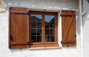 volets battant bois emf17 espace menuiserie et With volet porte fenetre bois