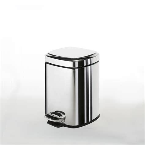 poubelle salle de bain wc carr 233 e inox 3l gedy sdebain