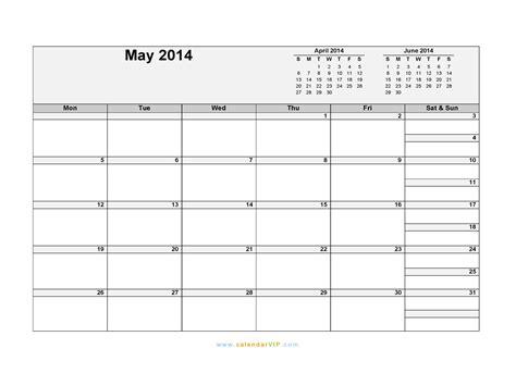 May Calendar 2014 Template Costumepartyrun