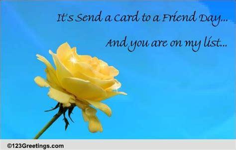 cherish friendship send card friend day ecards