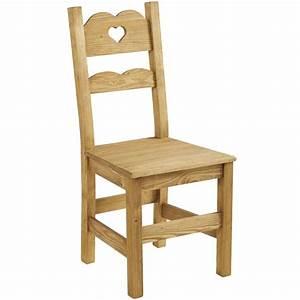 Chaise En Pin : chaise campagne en pin massif cir bross avec d coupe coeur ~ Teatrodelosmanantiales.com Idées de Décoration