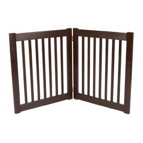 dynamic accents two panel ez pet gate smallmahogany 42220 great buy phuong030520148