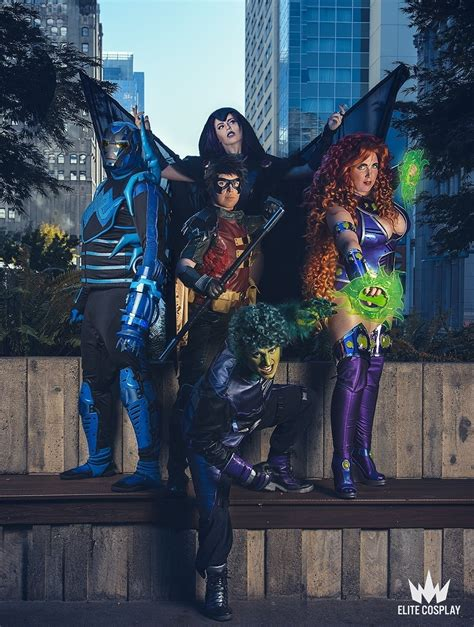 teen titans     impressive group cosplay