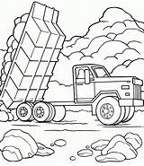 Coloring Dump Truck Coloringhome Blata Cargo sketch template