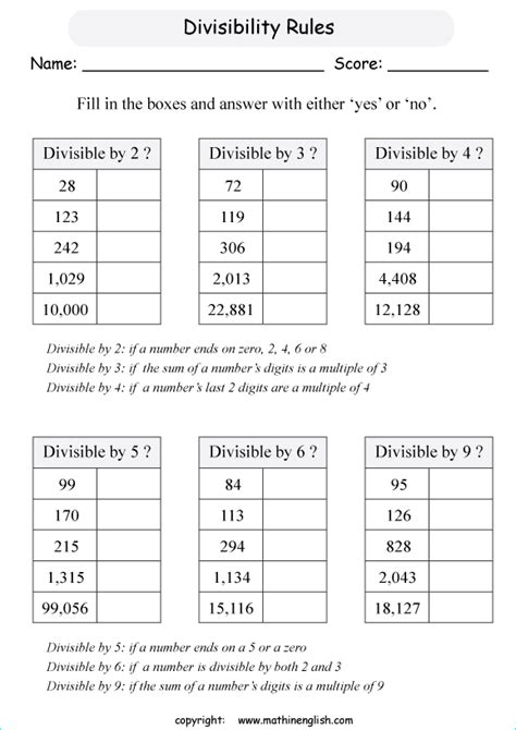 all worksheets 187 divisibility worksheets printable