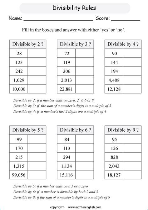division worksheet grade  printable  zip