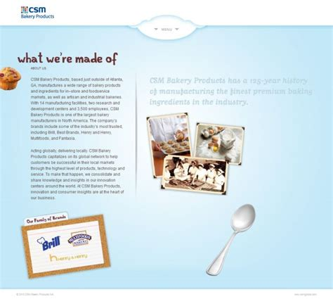 csm bakery products web design css showcase gallery