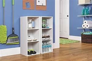 Closetmaid, 8987, Stackable, 3-shelf, Organizer, White, Color