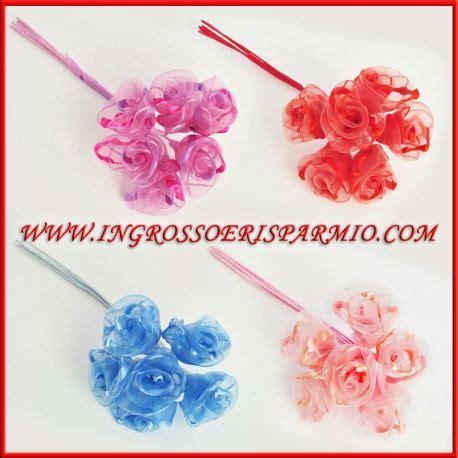 fiori per bomboniere fai da te 72 fiori organza vendita matrimonio battesimo