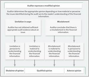 Qualified opinion audit report