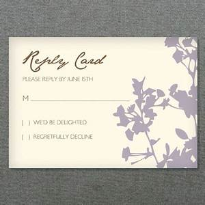 rsvp template silhouette weeds download print With wedding rsvp cards free download