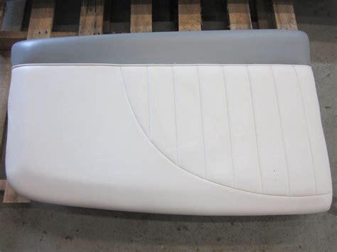 Used Boat Cushions For Sale by Mastercraft Ski Boat Seat Cushion White Grey Vinyl Ebay